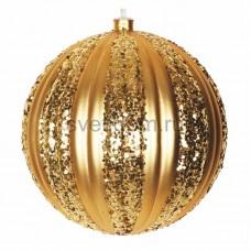Елочная фигура Полосатый шар, 20 см, цвет золотой Neon-Night 502-071