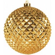 Елочная фигура Шар рельефный, 13 см, цвет золотой Neon-Night 502-200