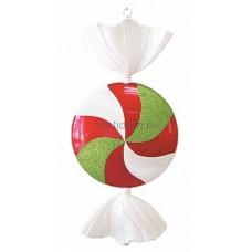 Елочная фигура Леденец, 102 см, цвет белый, красный и зеленый Neon-Night 502-242