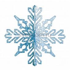 Елочная фигура Снежинка ажурная 3D, 23 см, цвет синий Neon-Night 502-333