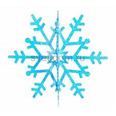 Елочная фигура Снежинка резная 3D, 61 см, цвет синий Neon-Night 502-363