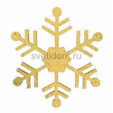 Елочная фигура Снежинка классическая, 66 см, цвет золотой Neon-Night 502-386