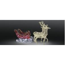 Фигура олени с санями Neon-Night 503-112