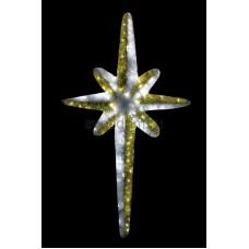 """Фигура """"Звезда 8-ми конечная"""", LED подсветка высота 120см, бело-золотая Neon-Night 506-242"""
