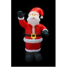 """3D фигура надувная """"Дед Мороз приветствует"""", размер 150 см, внутренняя подсветка 4 лампы, компрессор с адаптером 12В, IP44 Neon-Night 511-111"""