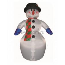 """3D фигура надувная """"Снеговик"""", размер 6 м, компрессор 160 Вт с адаптером 12В, IP44 Neon-Night 511-152"""