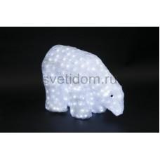 """Акриловая светодиодная фигура """"Белый медведь"""" 40см, 752 светодиода, IP 44, понижающий трансформатор в комплекте Neon-Night 513-123"""
