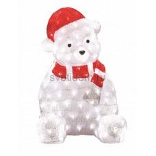 """Акриловая светодиодная фигура """"Медвежонок в красном колпаке"""" 56 см, 200 светодиодов, IP 44, понижающий трансформатор в комплекте Neon-Night 513-240"""