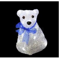 """Акриловая светодиодная фигура """"Белый мишка"""" 20 см, 4,5 В, 3 батарейки AA (не входят в комплект), 20 светодиодов Neon-Night 513-247"""