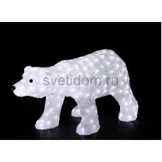 """Акриловая светодиодная фигура """"Белый медвед"""" 81х41х45 см, 270 светодиодов белого цвета, IP 44, понижающий трансформатор в комплекте Neon-Night 513-248"""