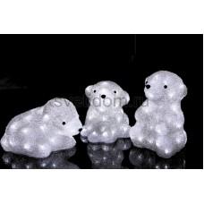 """Акриловая светодиодная фигура """"Медвежата"""" 3 шт, 20 см, 60 светодиодов, IP 23, понижающий трансформатор в комплекте Neon-Night 513-266"""