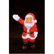 """Акриловая светодиодная фигура """"Санта Клаус приветствует"""" 60 см, 200 светодиодов, IP44 понижающий трансформатор в комплекте Neon-Night 513-272"""