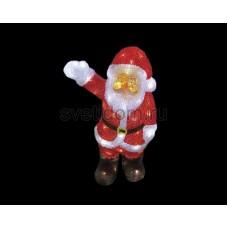 """Акриловая светодиодная фигура """"Санта Клаус приветствует"""" 30 см, 40 светодиодов, IP44 понижающий трансформатор в комплекте Neon-Night 513-273"""