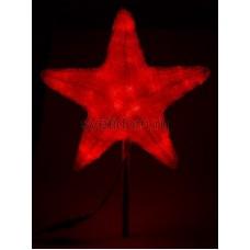 """Акриловая светодиодная фигура """"Звезда"""" 30см, 45 светодиодов, красная Neon-Night 513-432"""