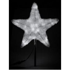 """Акриловая светодиодная фигура """"Звезда"""" 30см, 45 светодиодов, белая Neon-Night 513-435"""