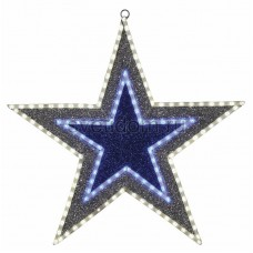 """Фигура """"Звезда"""" бархатная с постоянным свечением, размеры 61 см (81 светодиод зеленого+белого+голубого цвета) Neon-Night 514-015"""