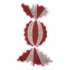 """Фигура """"Карамель"""" бархатная, с постоянным свечением, размеры 60*30 см (45 белых светодиодов) Neon-Night 514-051"""