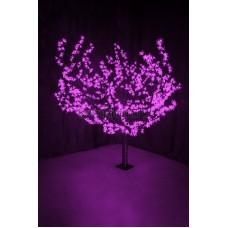 """Светодиодное дерево """"Сакура"""", высота 1,5м, диаметр кроны 1,8м, фиолетовые светодиоды, IP54, понижающий трансформатор в комплекте Neon-Night 531-106"""