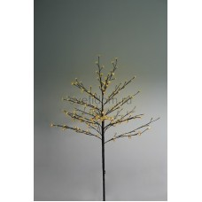 """Дерево комнатное """"Сакура"""", коричневый цвет ствола и веток, высота 1.2 метра, 80 светодиодов желтого цвета, трансформатор IP44 Neon-Night 531-241"""