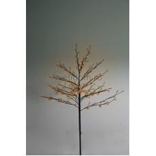 """Дерево комнатное """"Сакура"""", коричневый цвет ствола и веток, высота 1.2 метра, 80 светодиодов теплого белого цвета, трансформатор IP44 Neon-Night 531-247"""