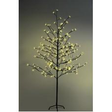 """Дерево комнатное """"Сакура"""", коричневый цвет ствола и веток, высота 1.5 метра, 120 светодиодов желтого цвета, трансформатор IP44 Neon-Night 531-261"""