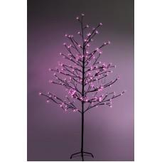 """Дерево комнатное """"Сакура"""", коричневый цвет ствола и веток, высота 1.5 метра, 120 светодиодов розового цвета, трансформатор IP44 Neon-Night 531-268"""