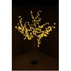 """Светодиодное дерево """"Сакура"""", высота 1,5 м, диаметр кронны 1,3м, желтые диоды, IP 44, понижающий трансформатор в комплекте Neon-Night 531-301"""