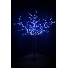 """Светодиодное дерево """"Сакура"""", высота 2,4 м, диаметр кроны 1,72м, синие диоды, IP 44, понижающий трансформатор в комплекте Neon-Night 531-323"""