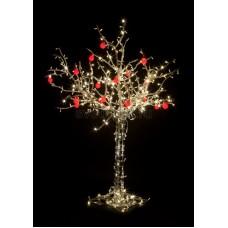 """Светодиодное дерево """"Яблоня"""", высота 1.5м, 10 красных яблок, тепло-белые светодиоды, IP 54, понижающий трансформатор в комплекте Neon-Night 531-402"""