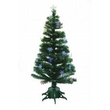 Новогодняя Ель фибро-оптика Снежинка 120 см, 125 веток, с декоративными украшениями Neon-Night 533-202