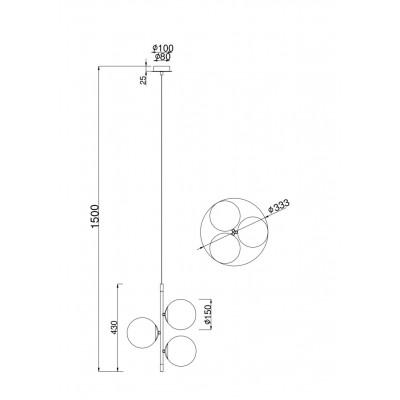 Подвесной светильник Maytoni MOD048PL-03G