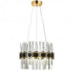 Подвесная светодиодная люстра Natali Kovaltseva LED LAMPS 81320 50W Золото 3000K