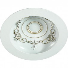 Встраиваемый светильник Novotech Gesso 357492 белый/золото 15Вт 85-265V IP20 3000К