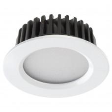 Встраиваемый светодиодный светильник Novotech Drum 357600 белый 10 Вт 100-265V IP44 3000K