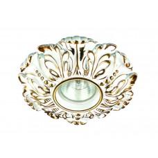Встраиваемый светильник Novotech 370323 Pattern ф150 мм белый, золото