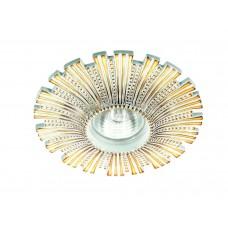 Встраиваемый светильник Novotech 370325 Pattern ф140 мм белый, золото