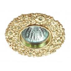 Встраиваемый светильник Novotech 370334 Candi ф105 мм золото