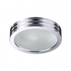 Встраиваемый светильник влагозащищенный Novotech Damla 370388 хром 50 Вт 12V IP44