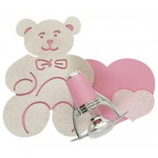 Спот детский Nowodvorski 3656 Honey Бежевый,розовый,с блестками