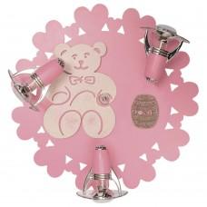 Спот детский Nowodvorski 3661 Honey Бежевый,розовый,с блестками