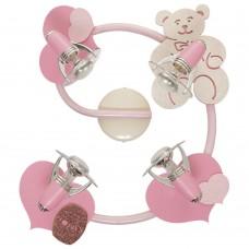 Спот детский Nowodvorski 3662 Honey Бежевый,розовый,с блестками