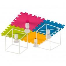 Люстра в детскую Nowodvorski 9726 Blocks Розовый,желтый,зеленый,голубой