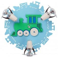 Спот детский Nowodvorski 4064 Train Голубой, зеленый,белый