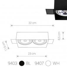 """Встраиваемый светильник """"кардан"""" Nowodvorski 9407 Mod Plus Белый"""
