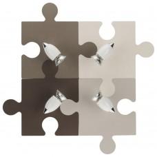 Спот детский Nowodvorski 6382 Puzzle Бежевый,коричневый