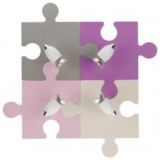 Спот детский Nowodvorski 6384 Puzzle Розовый,бежевый,серо-коричневый,фиолетовый