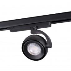 Трехфазный трековый светодиодный светильник Novotech 358166 Curl черный LED 20 Вт 4000K