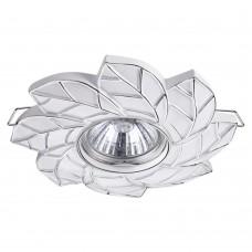 Встраиваемый светильник Novotech 370488 Pattern белый/серебро GU10 50 Вт