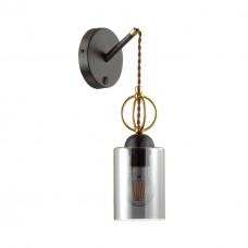 Бра c выключателем Odeon Light 4657/1W Opika черный/золотой/дымчатый E27 60 Вт