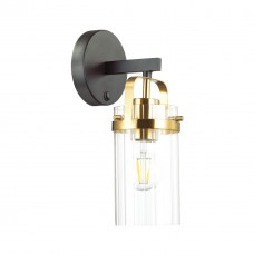 Бра c выключателем Odeon Light 4653/1W Kovis черный/золотой/прозрачный E27 60 Вт
